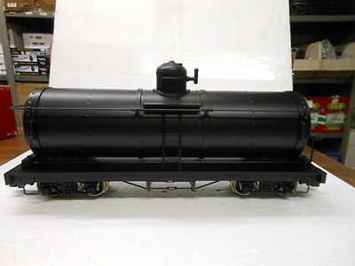 Bachmann G Scale Tank Car with Metal Wheels-Unlettered-Black 93470