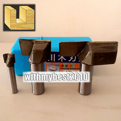 """Bottom Cleaning Router Bits 1/4 & 1/2 Shank 3/8""""- 2"""" Dia High quality Bits"""