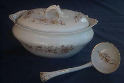 John Maddock & Sons Royal Vitreous Tureen with Ladle Antique Tureen