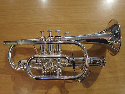 Willson Celebration 450 Bb cornet - silver-plated (used instrument)