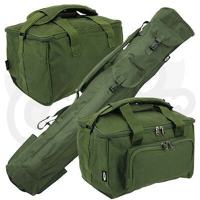 Carp Coarse Fishing Luggage Set Quiver Rod holdall & Deluxe Padded Carryall