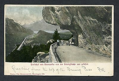View of People on the Brenner Pass. Swiss Stamp/Postmark - 1904