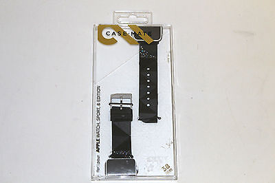 Case Mate Facets Smartwatch Band for Apple Watch 38mm CM032783 - Black