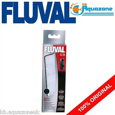 Fluval * U3 Carbon Cartridge * Underwater Filter Replacement * 2 Pack