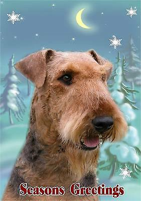 Airedale Terrier Dog A6 Christmas Card Design XAIRE-1 by paws2print