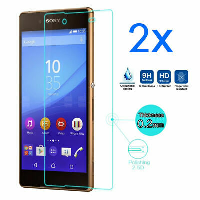 2x Clear Tempered Glass Screen Guard Protector For Sony Xperia Z5 E6653 E6603