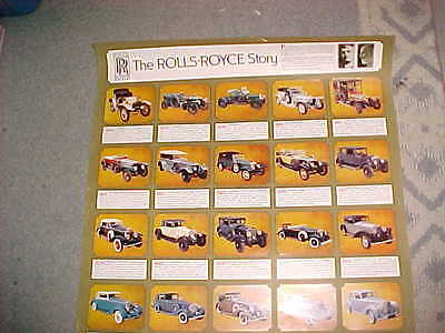 Rolls Royce REALLY COOL NICE POSTER  Rolls Royce POSTER 1904 to1970  MADE IN USA