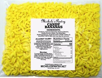 Bananarama Banana Heads Candy for Bulk Vending - FIVE POUNDS