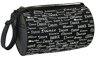 New Dansbagz Dance Fonts Black & White Roll Duffel Duffle Bag
