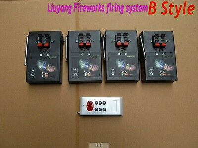 8 Cue fireworks firing system Electric wire wedding switch system Safety igniter