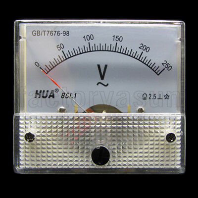 AC 250V Analog Panel Volt Voltage Meter Voltmeter Gauge 85L1 0-250V AC White