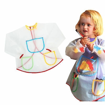 Waterproof Children's Drawing Apron Coat Painting Apron For Dinner Craft Art