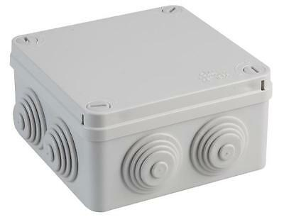 IP44 Thermoplastic 6 Entry Junction Box Enclosure 80x80x40mm