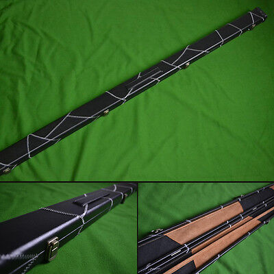 1 Piece Deluxe Design Snooker Cue Case - Space for 2 Cues - Black/Blue