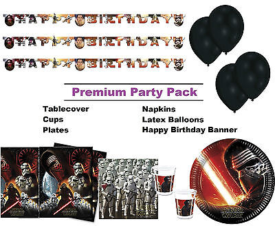 Star Wars Force Awakens 8-48 Guest Premium Party Pack - Tableware | Decorations