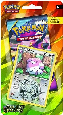 Pokemon XY Ancient Origins Checklane Blister With Booster+Blissey XY56 Holo Card