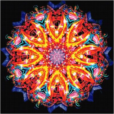 Cross Stitch Chart Pattern Mandala (1) Needlework Picture Design Craft Design