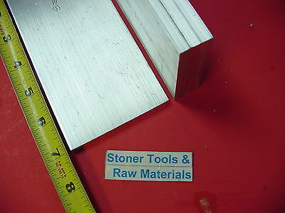 """4 pieces 1/4"""" X 3"""" ALUMINUM 6061 FLAT BAR 7"""" long T6511 Solid Plate Mill Stock"""