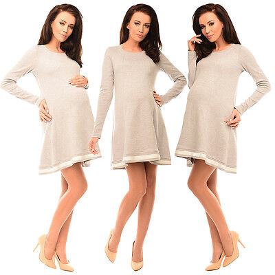 Maternity Asymmetric Pregnancy Top Tunic Mini Dress with Bow by Purpless 6218