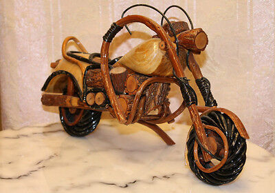 Hand Crafted in Wood Motorcycle