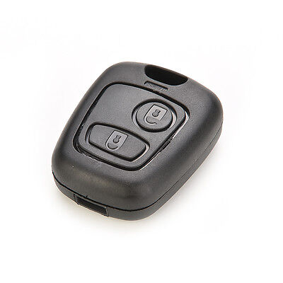 2 Button Remote Key Fob Case For Peugeot 106 107 206 207 307 406 Shell Cover So