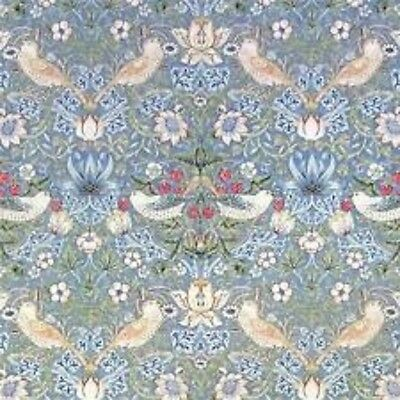 William Morris StrawberryThief Slate Vellum Fabric Perefect 8 mtrs rrp over £400