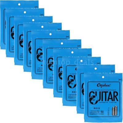 ELECTRIC GUITAR STRINGS 10 PACK Orphee-RX15 REGULAR SLINKY(.009-.042)NEW 7L9E
