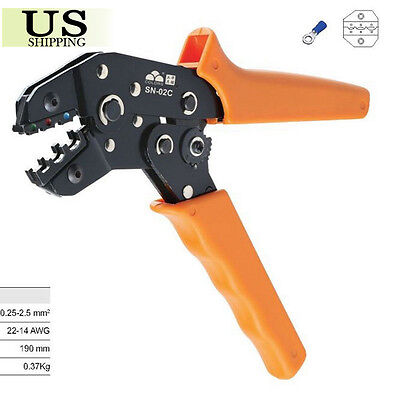Insulated Terminals Crimping Tool Plier Crimper 0.25-2.5mm2 AWG 24-14