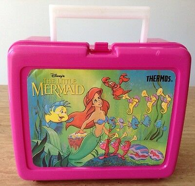 Vintage Disney Princess The Little Mermaid Lunchbox By Thermos USA ARIEL Pink