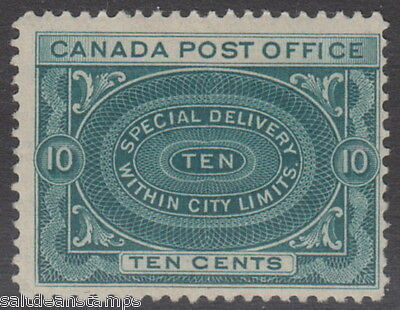 CANADA - SPECIAL DELIVERY 1898 10c. Blue-green - MM / MH