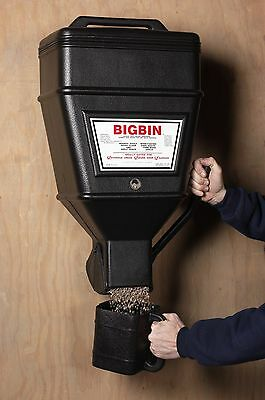 Kane Big Bin Wall Mounted Pet and Animal Food Dispenser 40lb Capacity