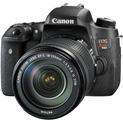 Canon EOS Rebel T6s Digital SLR with EF-S 18-135mm IS STM Lens 24.2 Megapixel