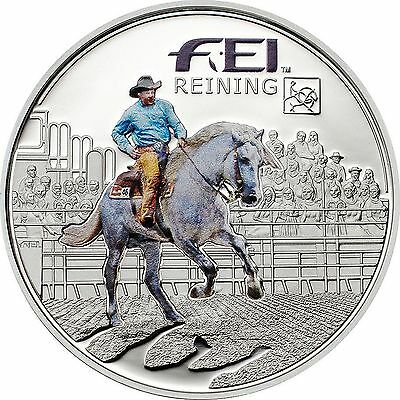 FEI VAULTING Andorra 5 Diners Silver Proof Coin, 2013, Mint, Reining