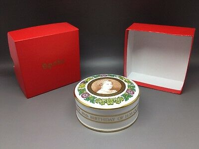 Ltd Edition Spode Trinket Box To Celebrate 80th Birthday Of Queen Mother