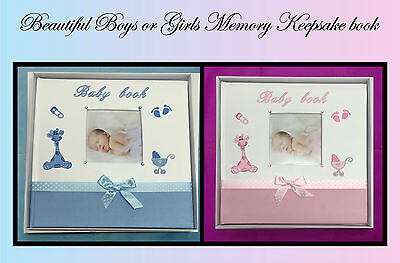 Baby Girl Boy - Memory Keepsake Record Album Book Baby Shower Gift - Boys Girls