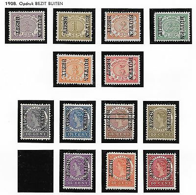 Netherlands Indies stamps 1908 NVPH 81f-96f without 93f  MLH  F/VF