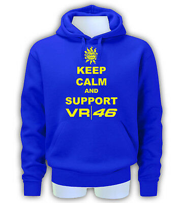 Valentino Rossi Keep Calm And Support Vr 46 Felpa Per Uomo E Bambino