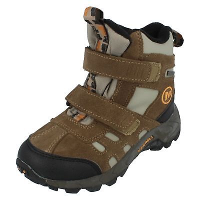 Merrell Boys/Girls J95435 Moab Polar Mid WPF Walnut Boots UK C9 - UK J 1 (R12A)