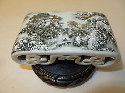 Rare Chinese antique porcelain landscape stand