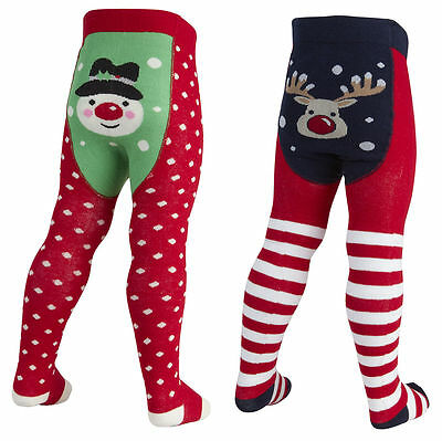 Baby Girls Christmas Tight Picture Bum Snowman Reindeer 0-6 6-12 12-18 AND 18-24