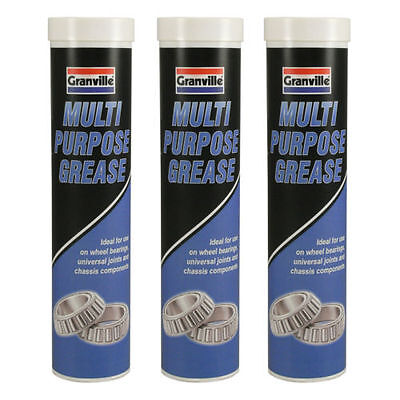 3 x Granville Multi Purpose Grease Bearings Joints Chassis Car 400g CARTRIDGE