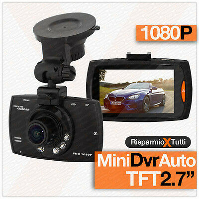 "Telecamera Per Auto 6 Led Dvr Videoregistratore Hd Sd 2,7"" Video Camera Camper"