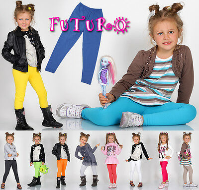 Thick Warm Cotton Girls Full Length Leggings Basic Plain Kids Pants Children