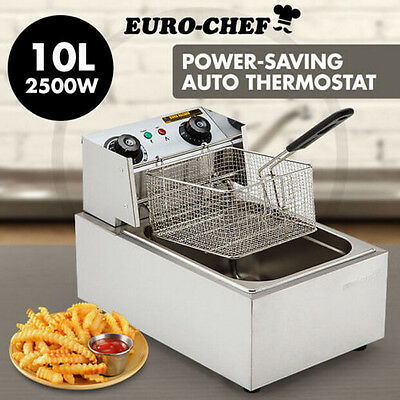 NEW 10L Electric Commercial Deep Fryer Frying 2500w Chip Cooker Fry 60-200'C