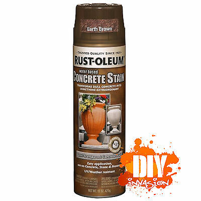 Rust-Oleum Concrete Stain Sealer EARTH BROWN Spray Paint Stone Masonry Pots