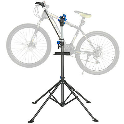 """Pro Adjustable Bike Repair Stand w/ Telescopic Arm 52"""" To 75"""" Cycle Bicycle Rack"""