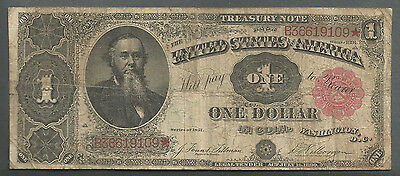 """Fr. 351 1891 $1 One Dollar Large Size """"stanton"""" Treasury Note"""