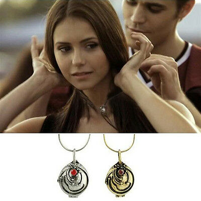 The Vampire Diaries Elena's Vervain Antique Locket Pendant Vintage Necklace