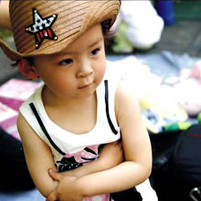 Cute Baby Kids Children Boys Girls Straw Western Cowboy Sun Hat Cap  Gift OK