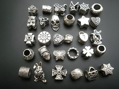 CLEARANCE TIBETAN SILVER SPACER BEADS CHARMS FIT  EUROPEAN BRACELET 10 or 20